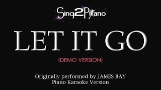 Let It Go - James Bay (Piano karaoke demo)
