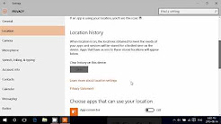 Windows 10 Location privacy settings