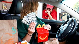 Tipping Drive Thru Workers $100 Challenge! *they were so shocked