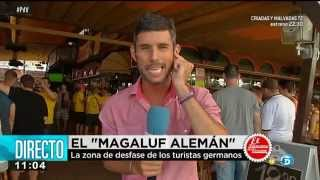 Arenal. Germany people in s'Arenal. Shame in Mallorca. 2/3