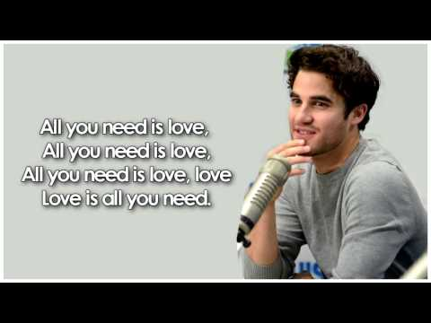 Glee - All You Need Is Love (Lyrics)