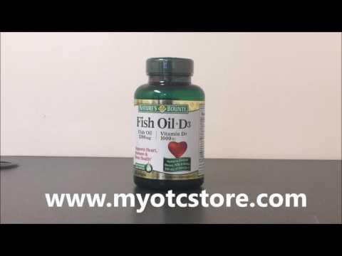 Myotcstore.com Review on Natures Bounty 1200 Mg Fish Oil + Vitamin D3 1000 Iu Softgels - 90 Ea