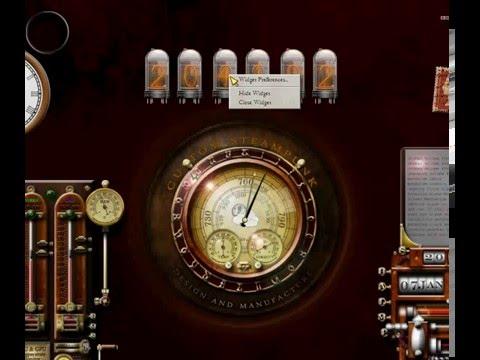 Dieselpunk/Cyberpunk/Steampunk Yahoo thermionic valve nixie tube widget clock