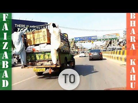 Faizabad Interchange To Bhara Kahu Islamabad Pakistan | Road Trip