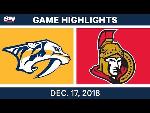NHL Highlights | Predators vs. Senators - Dec 17, 2018