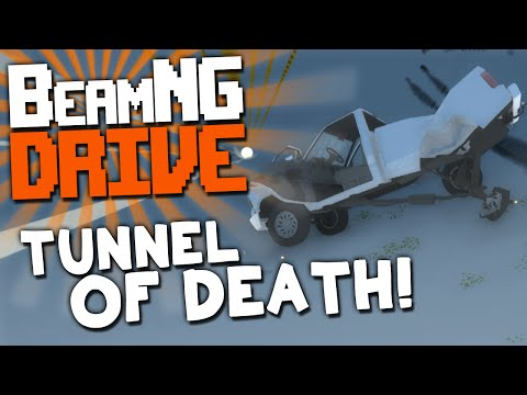 "BeamNG.DRIVE: ""TUNNEL OF DEATH!"""