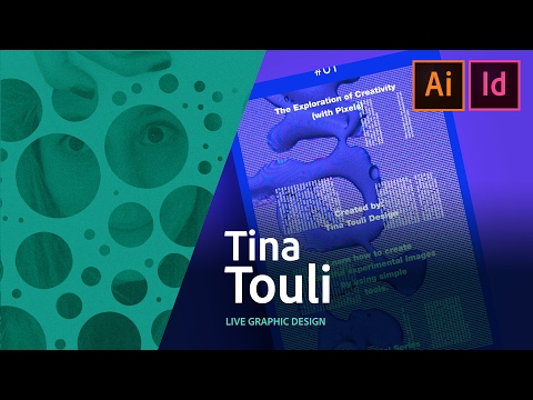 Graphic Design - Tina Touli creates a poster live 2/3