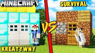 DOM NA SURVIVALU VS DOM NA KREATYWNYM W MINECRAFT | Vito vs Bella