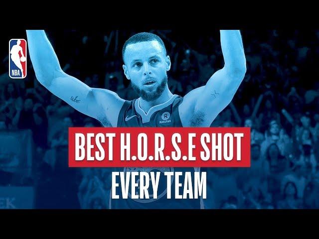 Best H.O.R.S.E. Shot From Every Team | 2018 NBA Season