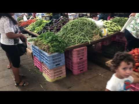 North cyprus fruit bazar footage