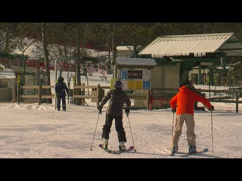 Christmas Skiers, Snowboarders Embrace The Cold At Afton Alps