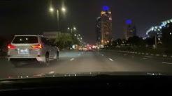 Dash Cam | Atlantis | Palm Jumeirah | Dubai Marina | at night | Relaxing Music | Dubai