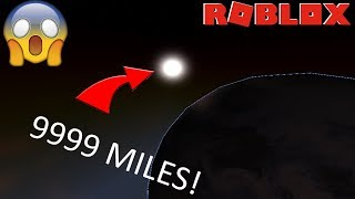 HOW TO GET OUT OF THE ROBLOX SKY! (GETTING ON THE MOON?) *EXPERIMENT*