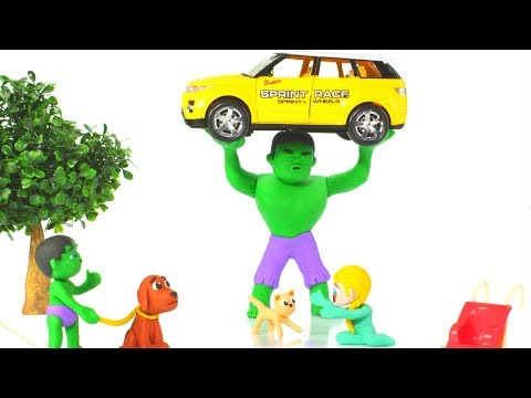 HULK SAVES THE BABY KITTEN ❤ Hulk & Frozen Elsa Play Doh Cartoons For Kids