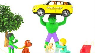 HULK SAVES THE BABY KITTEN ❤ Hulk & Frozen Elsa Play Doh Cartoons For Kids