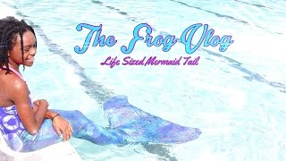 The Frog Vlog: We make a Life Sized Mermaid Tail
