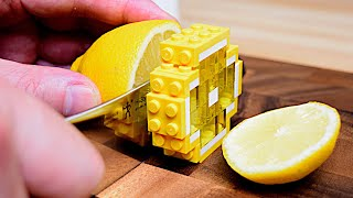 Lego Triple Layer Cheese Cake - Lego In Real Life 8 / Stop Motion Cooking & ASMR