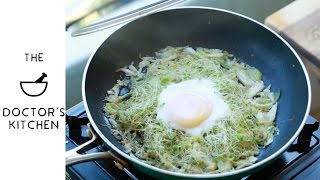 S2 E3 - Garlic Sprouts and Poached Egg!