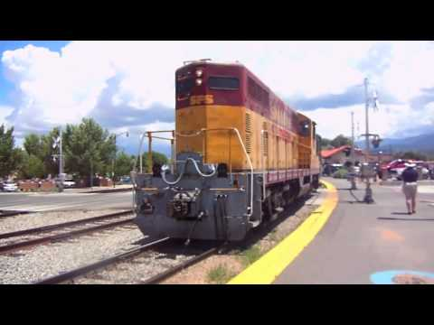 NM Rail Runner Express and Santa Fe Southern Railway in Santa Fe, NM