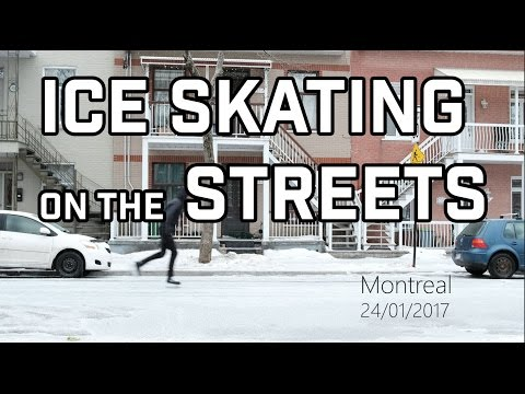 Ice Skating on Montreal Streets!