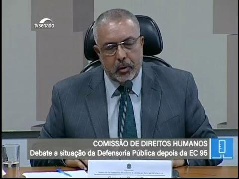 Orçamento da Defensoria Pública - TV Senado ao vivo - CDH - 04/06/2018