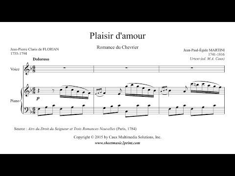 Martini : Plaisir d'amour - Urtext (Voice 2/6 : High, F Major)