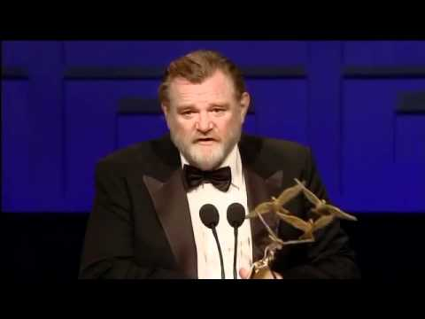 Brendan Gleeson accepts Domhnall Gleeson's Rising Star Award  IFTA 2011