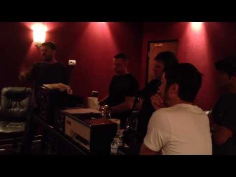 """In the studio during the recording of """"Making More Rain"""""""