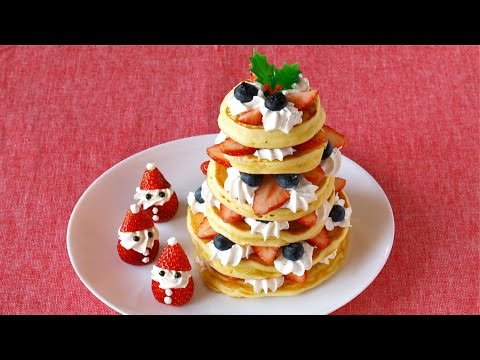 Christmas Tree Pancakes クリスマスツリーパンケーキの作り方 - OCHIKERON - CREATE EAT HAPPY