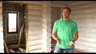 видео строительство домов из оцилиндрованного бревна
