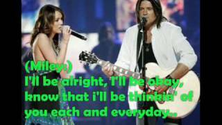 Download Miley Cyrus ft  Billy Ray Cyrus - Get ready, get set, don't go ( pics w. lyrics on screen ) MP3 song and Music Video