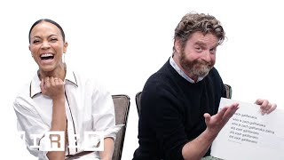 Download Zach Galifianakis & Zoe Saldana Answer the Web's Most Searched Questions | WIRED Mp3 and Videos