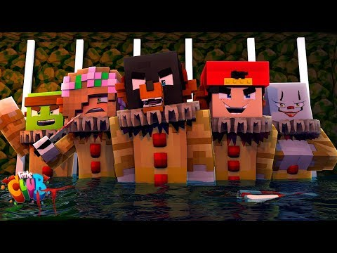 Minecraft IT MOVIE!! - PENNYWISE IT TURNS ALL OF THE LITTLECLUB INTO  SCARY CLOWN!!