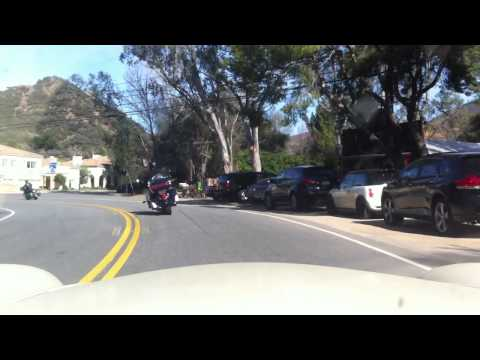 Full Length Mulholland Highway Drive From Calabasas High School To La Piedra Beach In MGA Roadster.