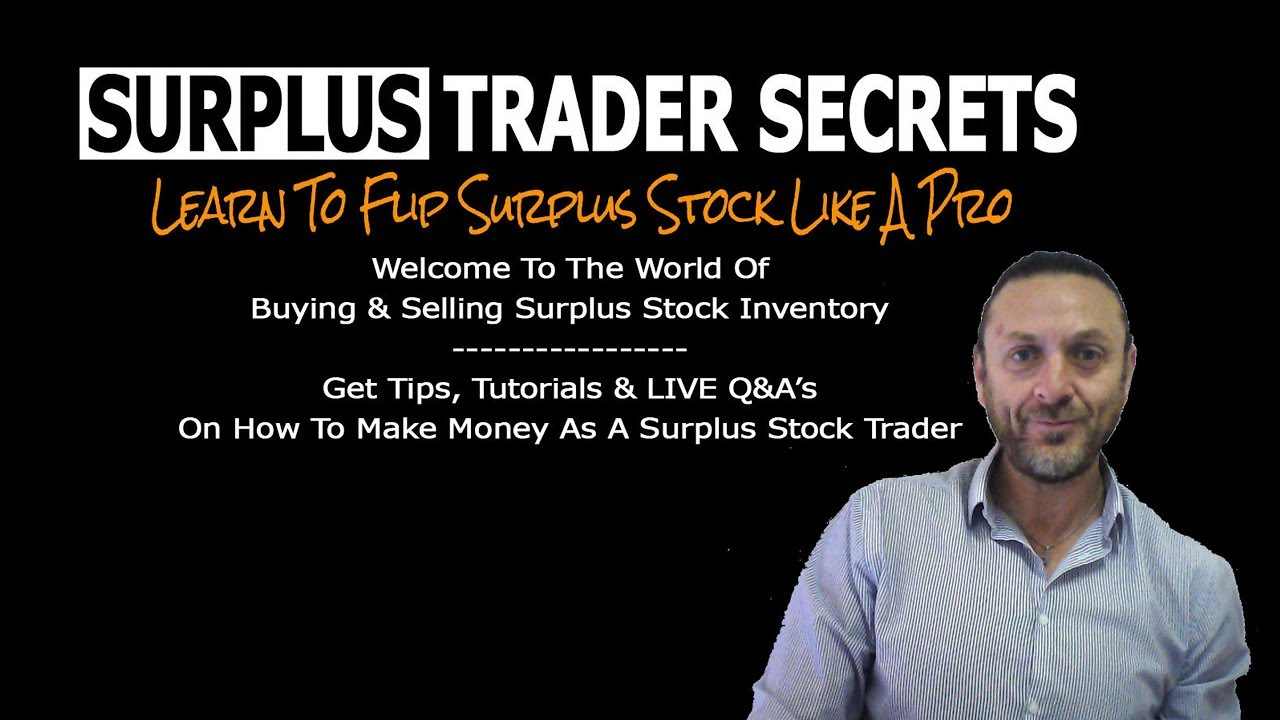 How To Find Buyers For ANY Type Of Surplus Overstock Inventory In ANY  INDUSTRY
