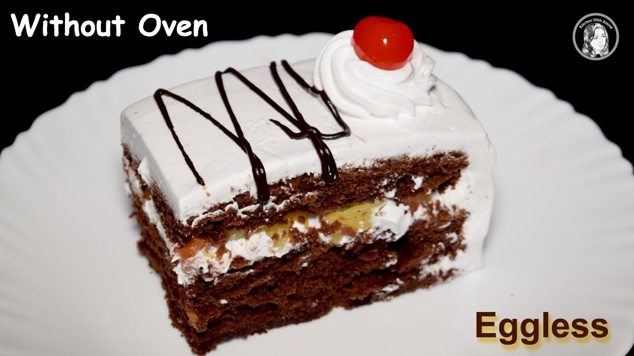 Eggless Chocolate Pastry Without Oven Soft Eggless Chocolate Cake