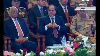 بالفيديو..السيسي: أفراد الجيش والشرطة مصريون فقط وليس لهم توجهات دينية