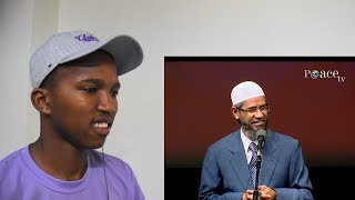 NON MUSLIM REACTS TO A Hindu asking for proof that Quran is from God to Zakir Naik