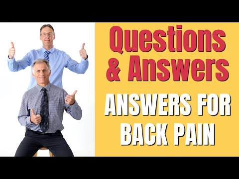 You Asked The Questions & We Answered - Back Pain Q & A