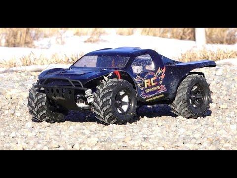 RC ADVENTURES - MONSTER TRAXAS SLASH 4x4 HCG, 3s Lipo, 2.8 Masher Tires
