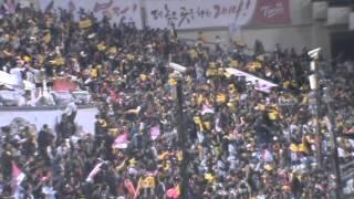 2014플레이오프 4차전 LG트윈스 응원(승리의 노래+민족의 아리아+아파트+서울메들리)