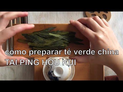 Preparación de té verde Tai Ping Hou Kui