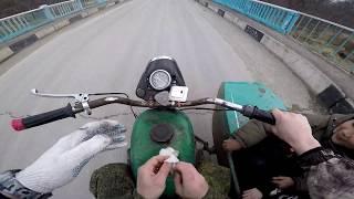 Перевернулись на Мотоцикле Урал в грязи