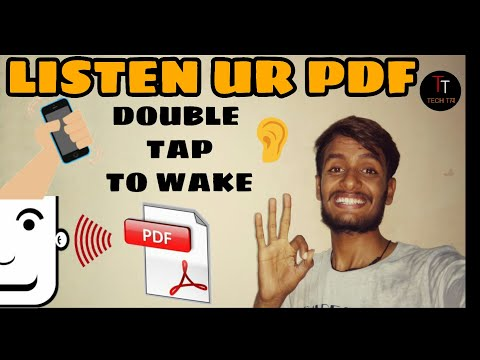 Convert Your PDF book Into Voice | Shake Phone Wake up app/ HINDI