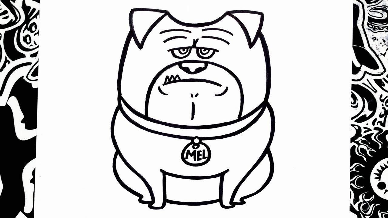 Como Dibujar A Mel De La Vida Secreta De Tus Mascotas