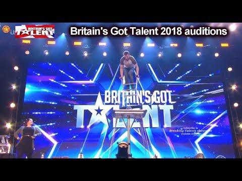 Sasha Williams UNBELIEVABLE BALANCING ACT  Auditions Britain's Got Talent 2018 BGT S12E01