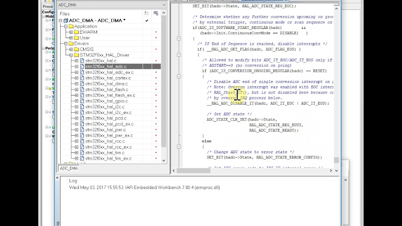 Hummingbird ARM Lesson 09: STM32 ADC DMA