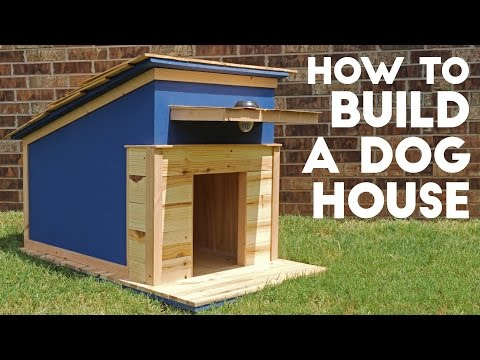 Easiest way to build a dog house roof