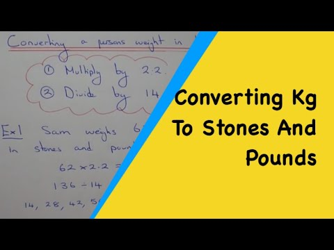 Quick Method To Change Persons Weight From Kilograms Into Stones And Pounds