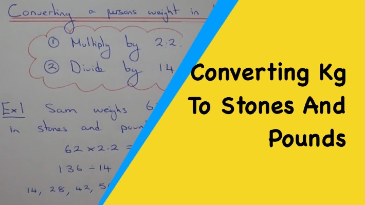 A quick method to change a persons weight from kilograms into stones a quick method to change a persons weight from kilograms into stones and pounds youtube nvjuhfo Image collections